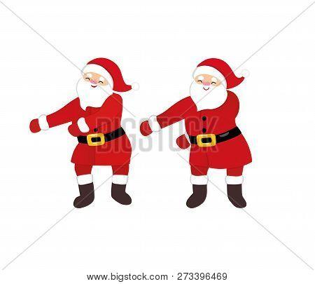 Christmas Dancing Cartoon.Funny Santa Dance Vector Photo Free Trial Bigstock