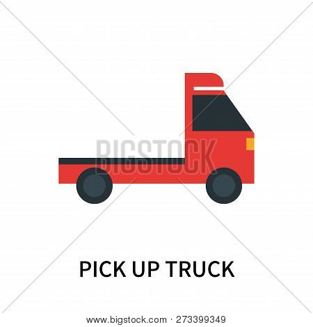 Pick Up Truck Icon Isolated On White Background. Pick Up Truck Icon Simple Sign. Pick Up Truck Icon
