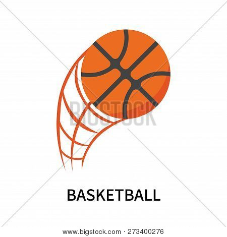 Basketball Icon Isolated On White Background. Basketball Icon Simple Sign. Basketball Icon Trendy An