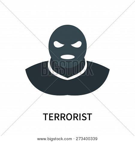 Terrorist Icon Isolated On White Background. Terrorist Icon Simple Sign. Terrorist Icon Trendy And M