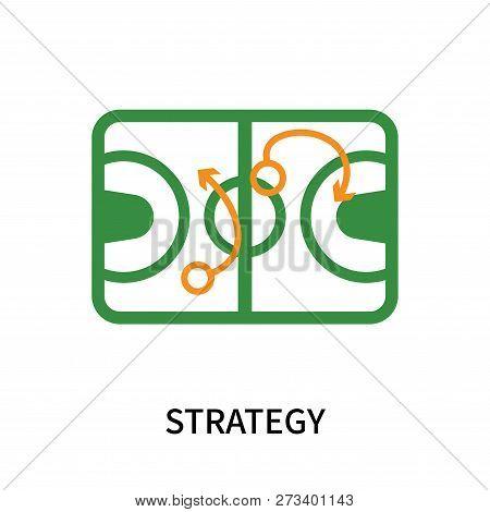 Strategy Icon Isolated On White Background. Strategy Icon Simple Sign. Strategy Icon Trendy And Mode