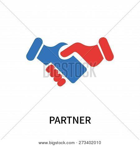 Partner Icon Isolated On White Background. Partner Icon Simple Sign. Partner Icon Trendy And Modern