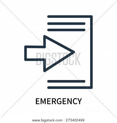 Emergency Icon Isolated On White Background. Emergency Icon Simple Sign. Emergency Icon Trendy And M