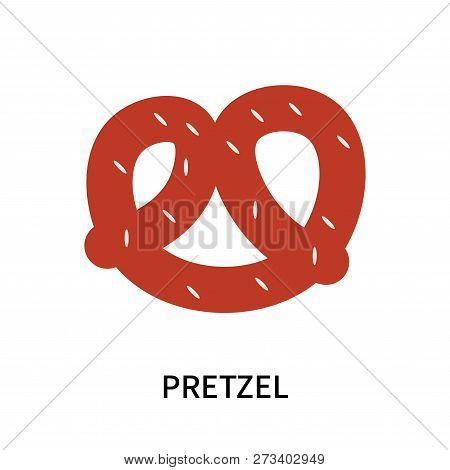Pretzel Icon Isolated On White Background. Pretzel Icon Simple Sign. Pretzel Icon Trendy And Modern