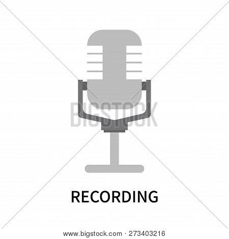 Recording Icon Isolated On White Background. Recording Icon Simple Sign. Recording Icon Trendy And M
