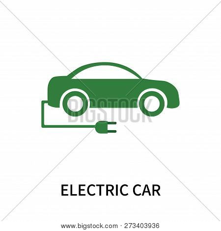 Electric Car Icon Isolated On White Background. Electric Car Icon Simple Sign. Electric Car Icon Tre
