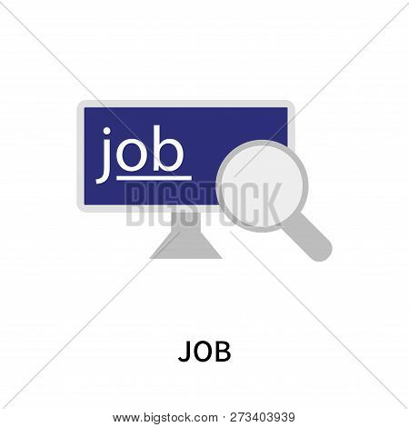Job Icon Isolated On White Background. Job Icon Simple Sign. Job Icon Trendy And Modern Symbol For G