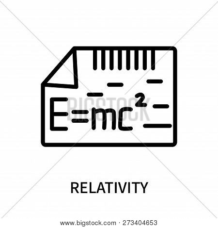 Relativity Icon Isolated On White Background. Relativity Icon Simple Sign. Relativity Icon Trendy An
