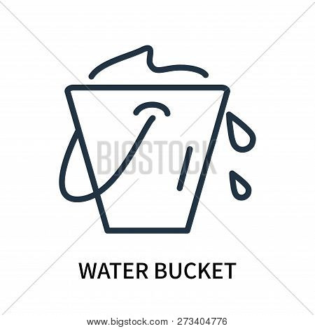 Water Bucket Icon Isolated On White Background. Water Bucket Icon Simple Sign. Water Bucket Icon Tre