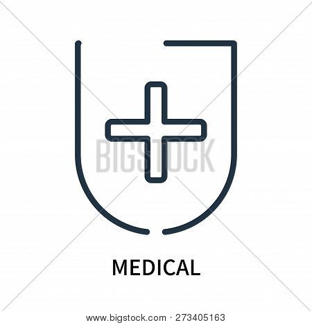 Medical Icon Isolated On White Background. Medical Icon Simple Sign. Medical Icon Trendy And Modern