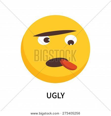 Ugly Icon Isolated On White Background. Ugly Icon Simple Sign. Ugly Icon Trendy And Modern Symbol Fo