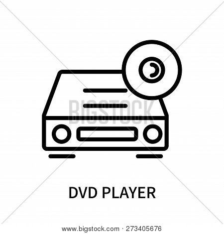 Dvd Player Icon Isolated On White Background. Dvd Player Icon Simple Sign. Dvd Player Icon Trendy An