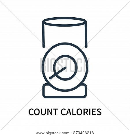 Count Calories Icon Isolated On White Background. Count Calories Icon Simple Sign. Count Calories Ic