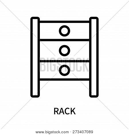 Rack Icon Isolated On White Background. Rack Icon Simple Sign. Rack Icon Trendy And Modern Symbol Fo