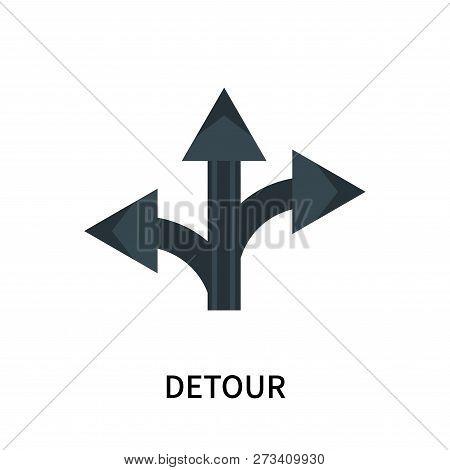 Detour Icon Isolated On White Background. Detour Icon Simple Sign. Detour Icon Trendy And Modern Sym