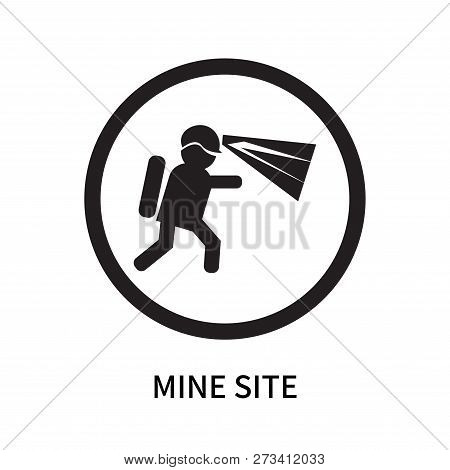 Mine Site Icon Isolated On White Background. Mine Site Icon Simple Sign. Mine Site Icon Trendy And M