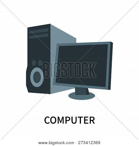 Computer Icon Isolated On White Background. Computer Icon Simple Sign. Computer Icon Trendy And Mode