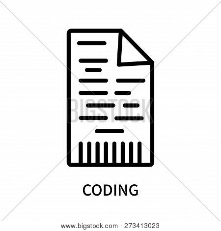 Coding Icon Isolated On White Background. Coding Icon Simple Sign. Coding Icon Trendy And Modern Sym