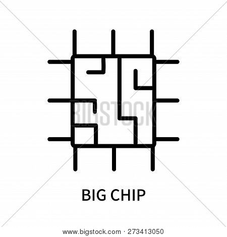 Big Chip Icon Isolated On White Background. Big Chip Icon Simple Sign. Big Chip Icon Trendy And Mode