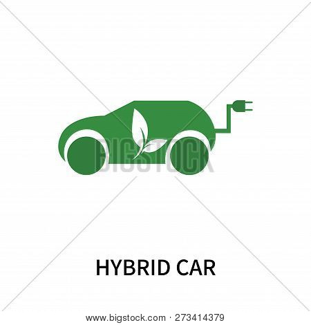 Hybrid Car Icon Isolated On White Background. Hybrid Car Icon Simple Sign. Hybrid Car Icon Trendy An