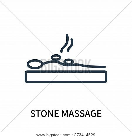 Stone Massage Icon Isolated On White Background. Stone Massage Icon Simple Sign. Stone Massage Icon