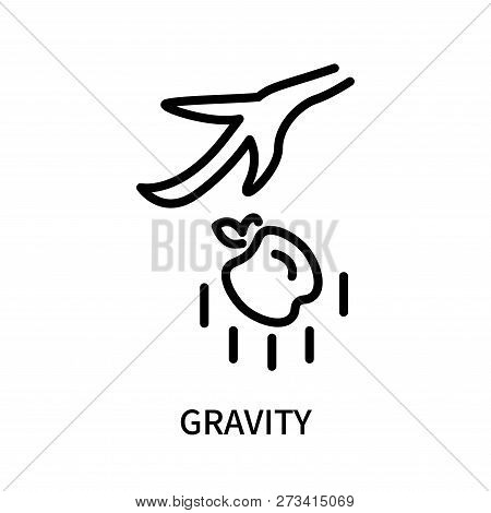 Gravity Icon Isolated On White Background. Gravity Icon Simple Sign. Gravity Icon Trendy And Modern