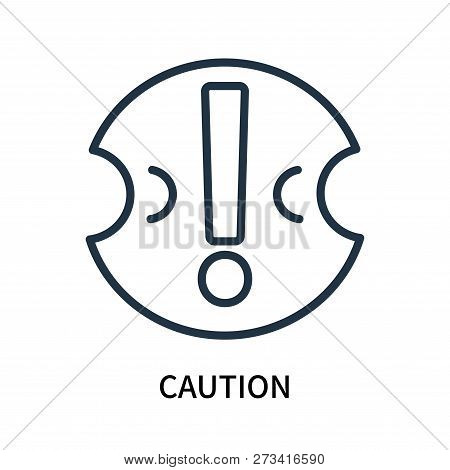 Caution Icon Isolated On White Background. Caution Icon Simple Sign. Caution Icon Trendy And Modern