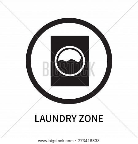 Laundry Zone Icon Isolated On White Background. Laundry Zone Icon Simple Sign. Laundry Zone Icon Tre