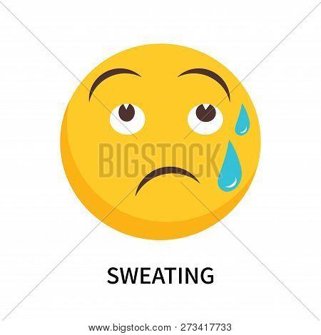 Sweating Icon Isolated On White Background. Sweating Icon Simple Sign. Sweating Icon Trendy And Mode