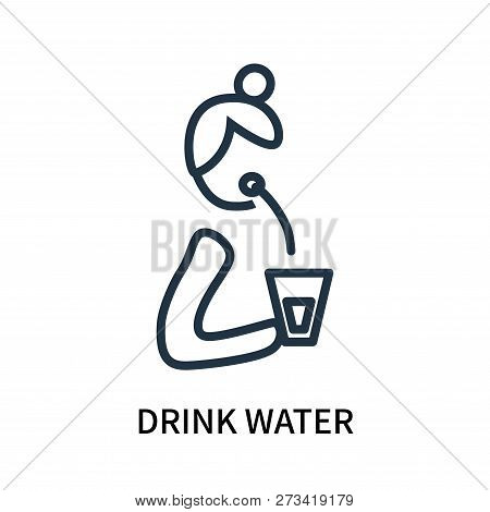 Drink Water Icon Isolated On White Background. Drink Water Icon Simple Sign. Drink Water Icon Trendy