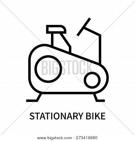 Stationary Bike Icon Isolated On White Background. Stationary Bike Icon Simple Sign. Stationary Bike