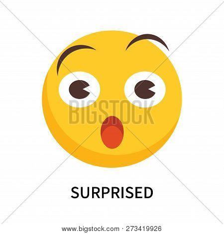 Surprised Icon Isolated On White Background. Surprised Icon Simple Sign. Surprised Icon Trendy And M