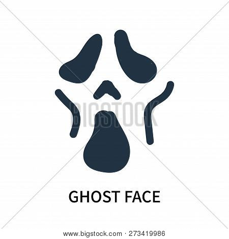 Ghost Face Icon Isolated On White Background. Ghost Face Icon Simple Sign. Ghost Face Icon Trendy An