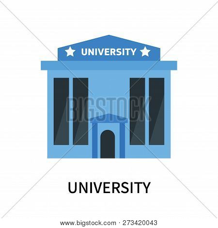 University Icon Isolated On White Background. University Icon Simple Sign. University Icon Trendy An