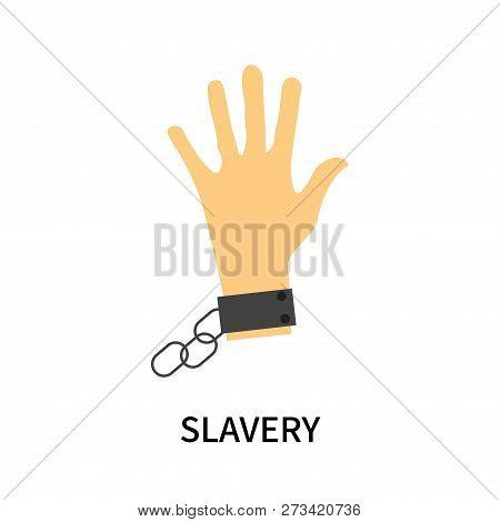 Slavery Icon Isolated On White Background. Slavery Icon Simple Sign. Slavery Icon Trendy And Modern