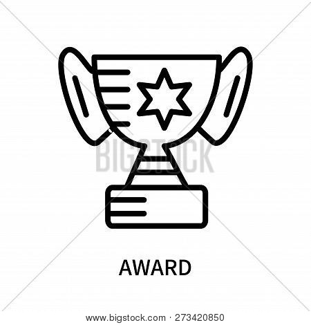 Award Icon Isolated On White Background. Award Icon Simple Sign. Award Icon Trendy And Modern Symbol