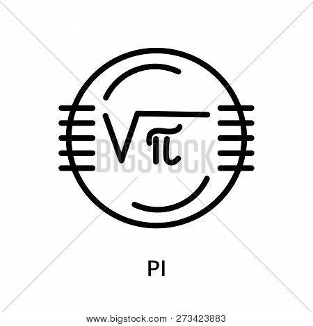 Pi Icon Isolated On White Background. Pi Icon Simple Sign. Pi Icon Trendy And Modern Symbol For Grap
