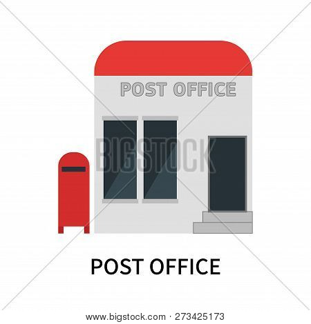 Post Office Icon Isolated On White Background. Post Office Icon Simple Sign. Post Office Icon Trendy