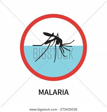 Malaria Icon Isolated On White Background. Malaria Icon Simple Sign. Malaria Icon Trendy And Modern