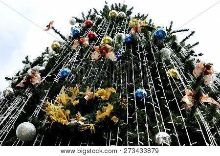 Close Up Of At Christmas Tree Decoration