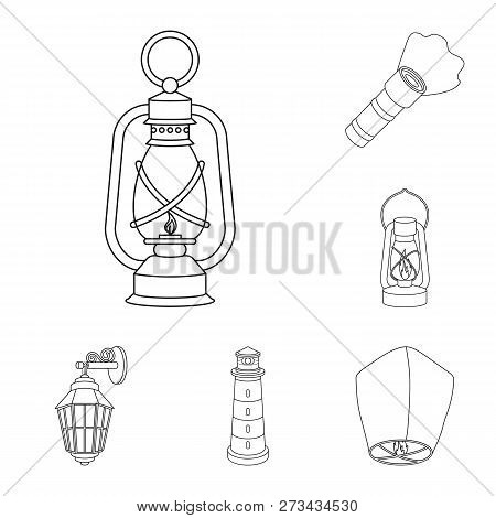 Vector Design Of Moon And Holiday Sign. Collection Of Moon And Ramadan Stock Symbol For Web.
