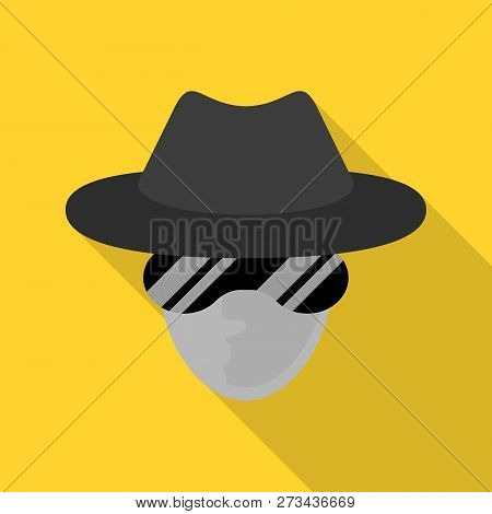 Incognito net surfer icon. Flat illustration of incognito net surfer icon for web design poster