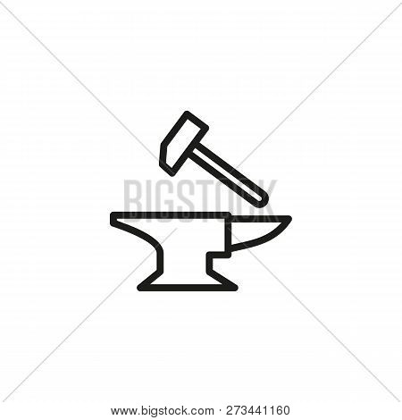 Forge Line Icon  Vector & Photo (Free Trial) | Bigstock