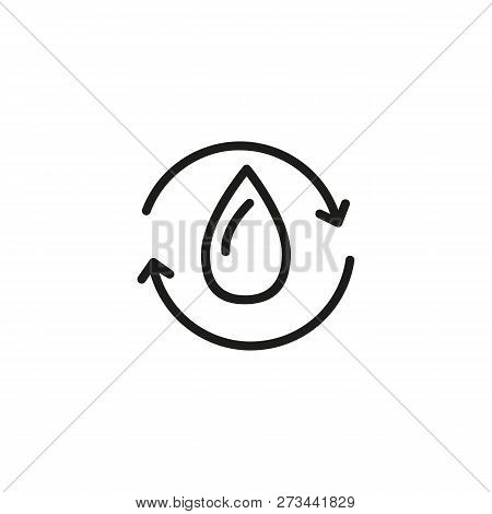 Water cycle line icon. Drop, recycle, circle. Water concept. Can be used for topics like ecology, nature, environment poster