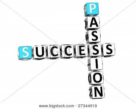 3D Success Passion Crossword