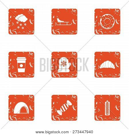 Conservatory Icons Set. Grunge Set Of 9 Conservatory Icons For Web Isolated On White Background