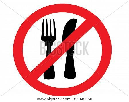 no eating food  allowed