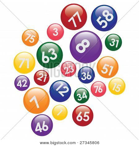 Lottery Balls With Numbers.
