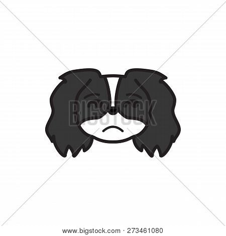 Pekingese, Emoji, Insecure Multicolored Icon. Signs And Symbols Icon Can Be Used For Web, Logo, Mobi