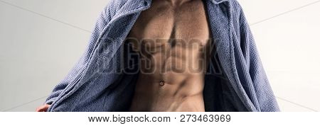 Sexy perfect temptation. Muscular men with torso. Temptation for women. Flirting. Sexy men with athlete body poster